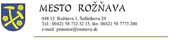 Mesto Rožňava- hlavička