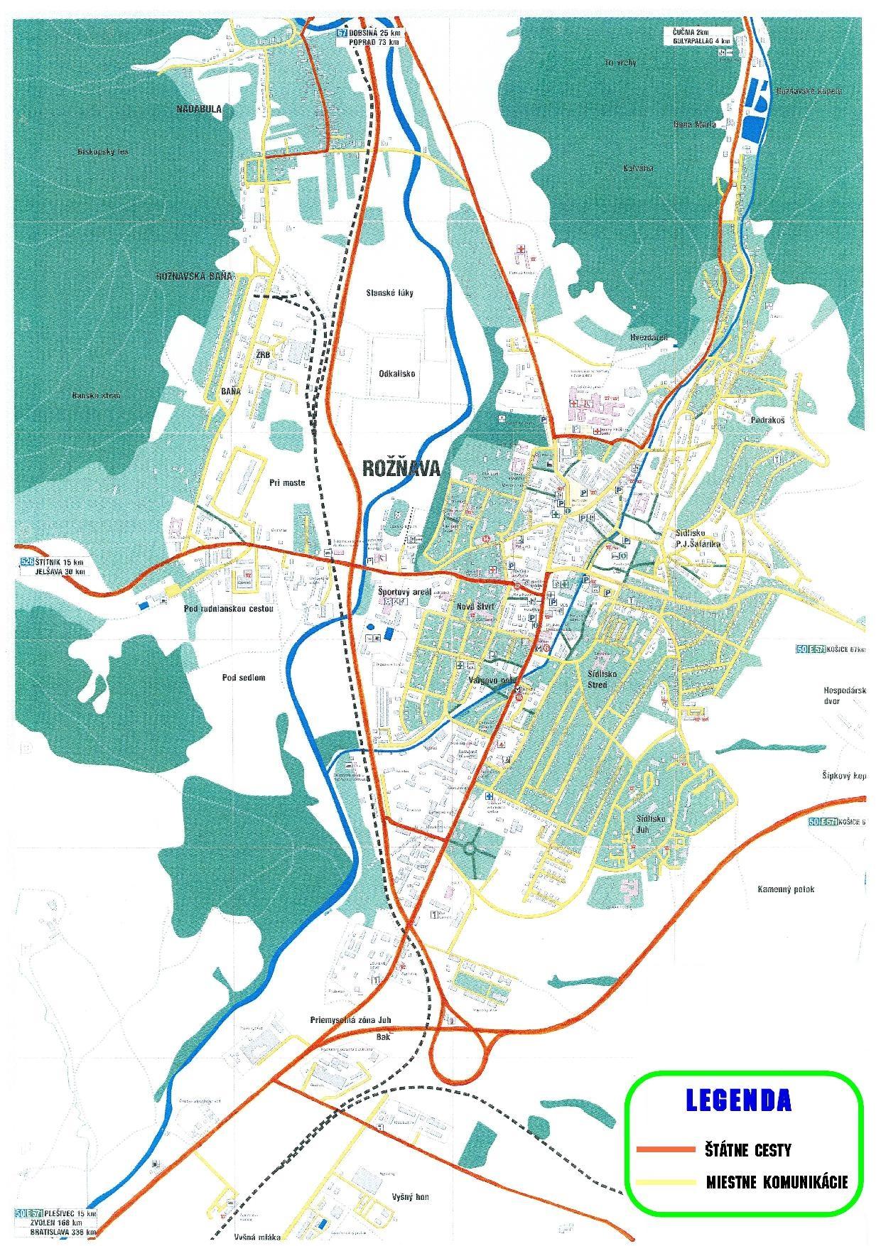Informačná  mapa  rozdelenia pozemných komunikácií